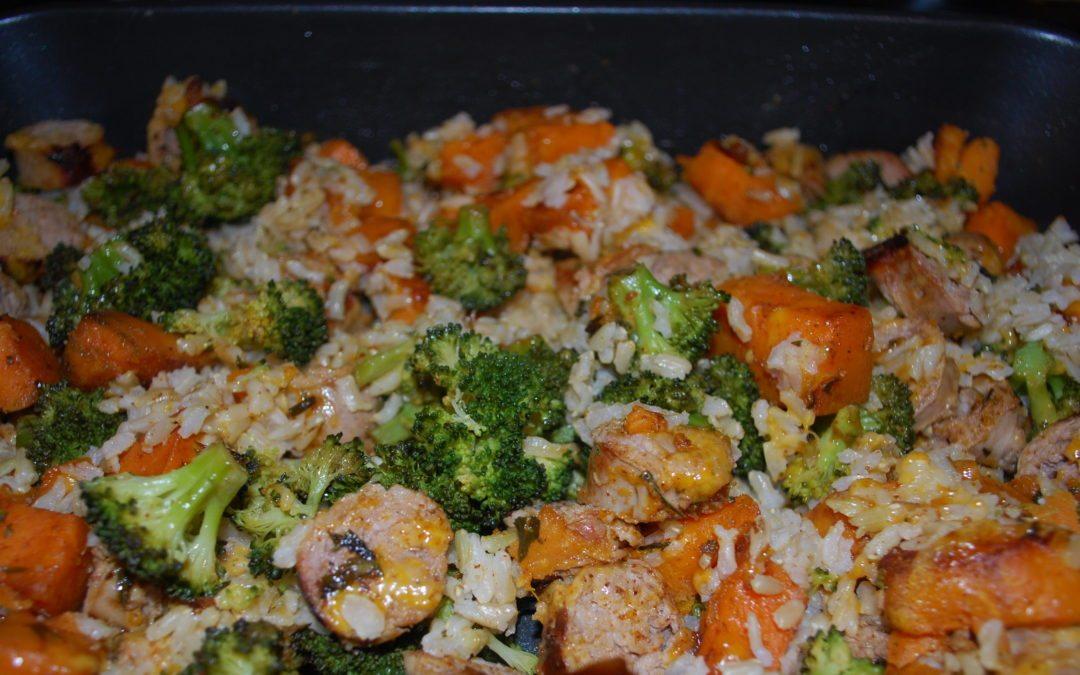 Cheesy Broccoli Turkey Bake