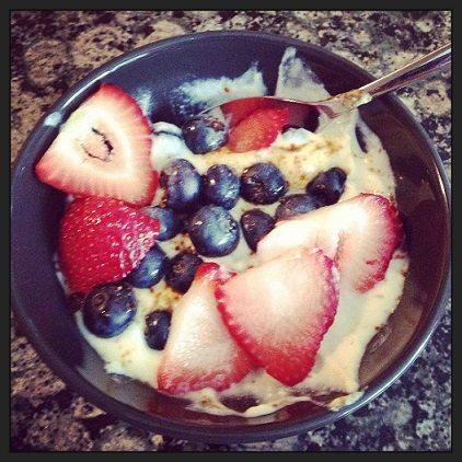 Morning travel oatmeal